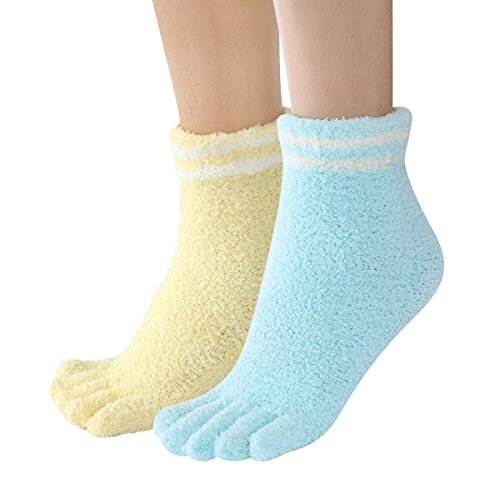 Sweet Nana bunte Streifen Design Dicke superweiche Fuzzy gemütliche Toe Home Socken 2 Pack Winter Warm Crew Socken für Frauen (Socken Quartal Womens)