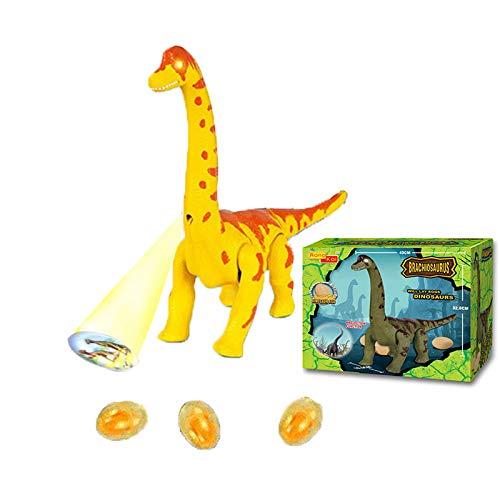 Dinosaurios de juguete para caminar, Juguetes de dinosaurio de acción en vivo Brillan la imagen a medida que se mueve, Juguete de dinosaurio divertido para niños Huevos reales Sonidos de dinosaurio