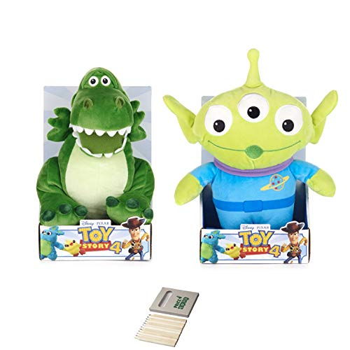 Price Toys Toy Story 4 Soft Toy Kollektion Disney Pixar - Woody, Buzz Lightyear, Jessie, BO Peep, Forky, Alien und Rex (Rex / Alien) (Woody Buzz Jessie Bullseye)