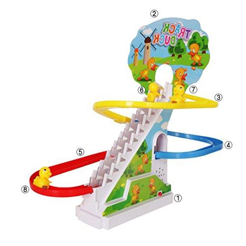Baby musik spielzeug, Huihong gelbe ente elektrische licht musik amusement elektrische klettern treppe track spielzeug