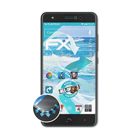 atFolix Schutzfolie passend für bq Aquaris X Pro Folie, ultraklare & Flexible FX Bildschirmschutzfolie (3X)