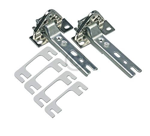 Türscharnier 2er Set geeignet für Kühlschrank/Gefriergeräte wie Bosch Siemens 268698-Whirlpool 481241718776-Miele 2285121 usw.