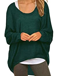 f0f787a6aaa6 Meyison Damen Winter Loose Fit Batwing Langarm Sweatshirt Pullover Bluse  Oversize Tops T-Shirt