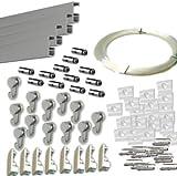 Pack Basic RM de 12 metros Guías de aluminio (Blanco Mate) con 12 colgadores...