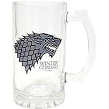 "Juego de Tronos SDTSDT27345 - Jarra para cerveza de cristal, diseño Stark ""Winter Is Coming"" (SD Toys SDTSDT27345) - Jarra Winter is Coming Stark"