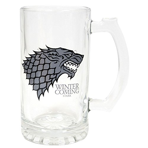 "Juego de Tronos SDTSDT27345 - Jarra para cerveza de cristal, diseño Stark""Winter Is Coming"" (SD Toys SDTSDT27345) - Jarra Winter is Coming Stark"
