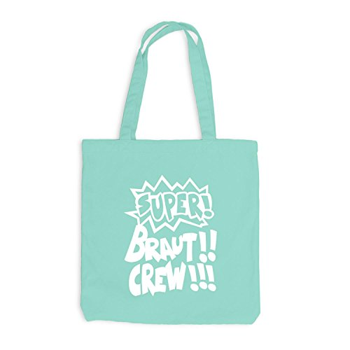 Borsa Di Juta - Addio Al Nubilato - Cartoon Super Crew Crew - Menta Stile Jga