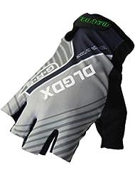 Caracol MTB medio dedo guantes guantes de la bicicleta medios guantes del dedo de la se?ora al aire libre paseos masculinos deslizamiento transpirable