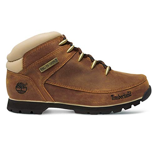 f813b936e8 Timberland Mens Euro Sprint Hiker Brown Beige Leather Boots 41 EU