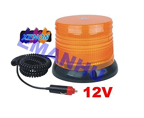 Preisvergleich Produktbild 12V XENON Blitzleuchte Warnleuchte Strobo-Blinklicht Leuchte Orange