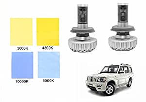 Speedwav 3S H4 All-Weather Color Changeable LED Headlight Bulbs-Mahindra Scorpio Type 2 (2008-2014)