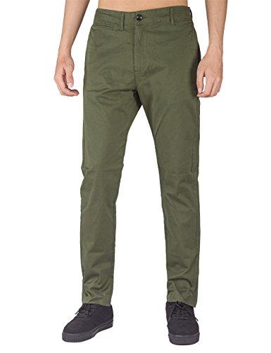 The awoken uomo pantaloni chino marina militare (esercito verde, l)