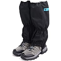 Triwonder Snow Leg Gaiters Polainas de arranque a prueba de agua Polainas cubierta para ir de excursión Escalada de senderismo Caza Ciclismo (1 par) (Negro - 2)