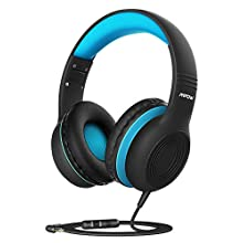 Kids Headphones, CH6S Children Headphone Over Ear, Wired Headset Volume Limited and Sharing Function Child Earphones Foldable Headphones, 3.5mm Jack with Mic for School/Travel/Phone/Kindle/PC/MP3