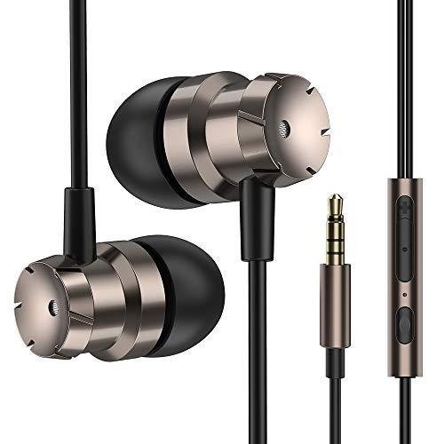 Luvfun Kopfhörer, In Ear Kopfhörer mit Mikrofon und Lautstärkeregler Noise Cancelling Stereo Kopfhörer mit 3,5mm Klinkenstecker für Samsung Huawei 3.5 Mm Kopfhörer