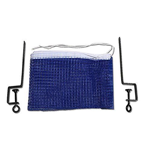 Tragbarer Tischtennisnetz Durable Ersatz Ping Pong Net und Beiträge Tischtennis Zubehör Blau (Table Ping Net Pong Tennis)