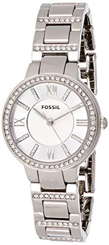 Fossil Damen Analog Quarz Uhr mit Edelstahl Armband ES3282