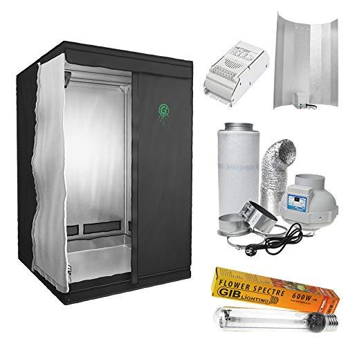 Growbox Komplett Set (120x120x200cm 600 Watt)