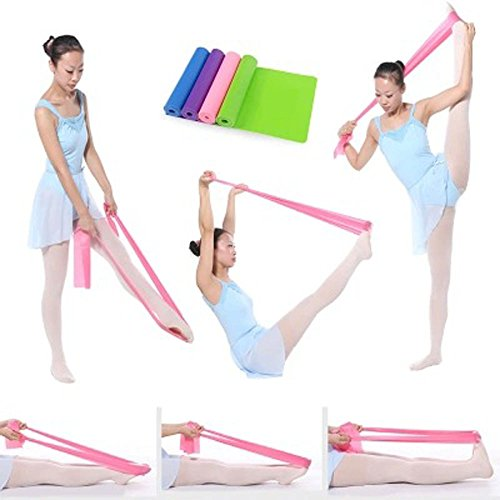 efanr Fitness Stretch-Band Widerstand Übungsbänder Rally Gurte für Dance Gymnastik Training Fitness Training Yoga Pilates von Superior Stretch Länge: 1,5 m, rose