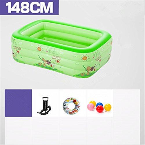 Verdicken umweltfreundliche PVC Baby Kinder schwimmen gefaltet aufblasbare quadratische Familie Pool Ball Pool 148 * 110 * 51 cm geeignet für über 3 Jahre alt