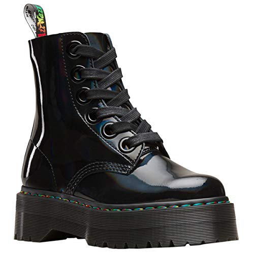 ly Rainbow Leather Black Stiefel 37 EU ()