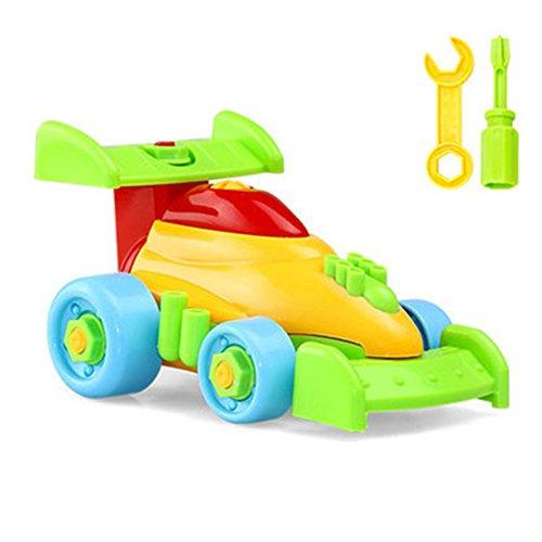 Demontage Montage, Chickwin Spielzeug Karikatur Tierpuzzlespiel DIY Spielzeug mit Werkzeug Pädagogisches Kinderspielzeug ab 345 Jahren Alt (Farbe zufällige Lieferung) (Formelwagen)