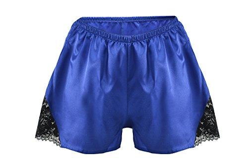 Postero PN301 - Damen Shorts aus Satin Tiefblau