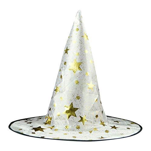 ZHRUI Der Hexen-Hut der Halloween-Erwachsenen-Frauen der Männer für Kostüm-Zusatz-Sterne druckte Kappe (Farbe : ()