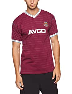 Score Draw Official Retro West Ham United 1986 Men's Football Shirt - Claret/ Sky, Medium