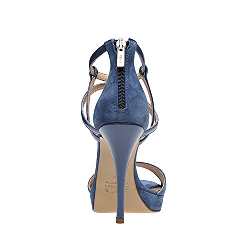 VALERIA Damen Sandalette Kombi Blau