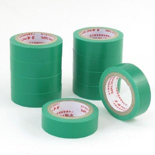 sourcingmap-10-pezzi-8mm-spessore-isolante-adesivo-elettrico-nastro-5m-5m-verde