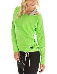 Winshape WS2 Tee-shirt à manches longues pour femme Pour loisirs, sport et danse M Vert - Vert pomme