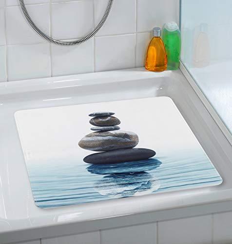 Wenko Duscheinlage Meditation, 54x54cm, Thermoplastischer Kunststoff (TPR), Mehrfarbig, 54 x 54 x 0.1 cm