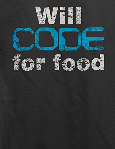 Will Code For Food Vintage T-Shirt Grau