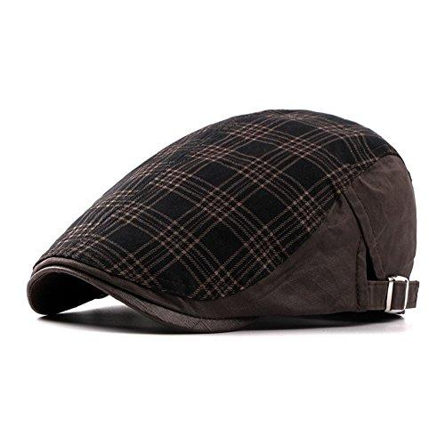 Casquette Hommes Garçons Coton Zébrer Chapeau D'Été De Printemps Marron B