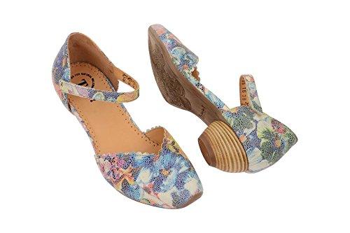Think Chaussures Femme–Confortable chaussures basses Lacets Toile Aïda 09 Argent - kombi