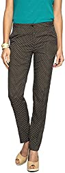 Van Heusen Womens Slim Trousers (8907219079471, Black, 28)