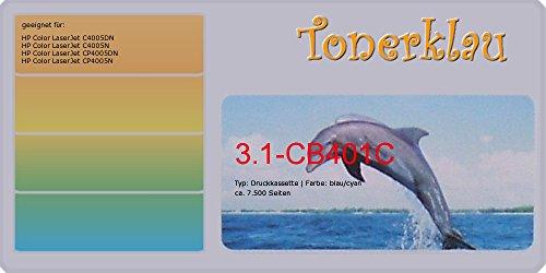 Toner / Druckkassette kompatibel zu HP CB401A, 642A, Farbe: cyan, kompatible Druckkassette 3.1-CB401C , geeignet für: Color LaserJet C4005DN Color LaserJet C4005N Color LaserJet CP4005DN Color LaserJet CP400 -