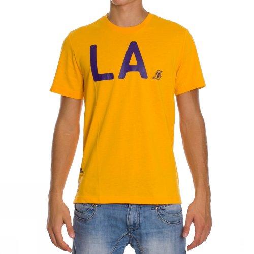 adidas NBA Los Angeles Lakers Camisa Del Mens Camiseta Amarillo - amarillo, hombre, X-Large, Amarillo