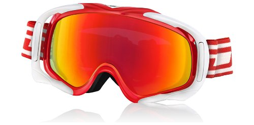 Dirty Dog Goggles 54115 Weiß Rot Outrigger Visor Goggles Lens Mirrored