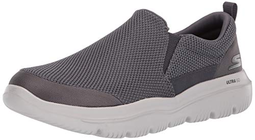 Ultra-konzentrierte, Stoff (Skechers GO WALK EVOLUTION ULTRA-IMPEC, Men's Slip On Trainers, Grey (Charcoal Textile Charcoal), 12  (47 EU))