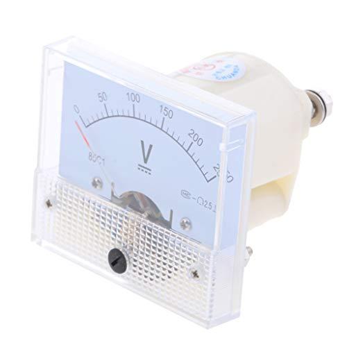 KESOTO Klassische DC Analog Voltage Panel Meter Amperemeter Stromtester, Messbereich 0-5 V bis 0-600 V - 0-250 V
