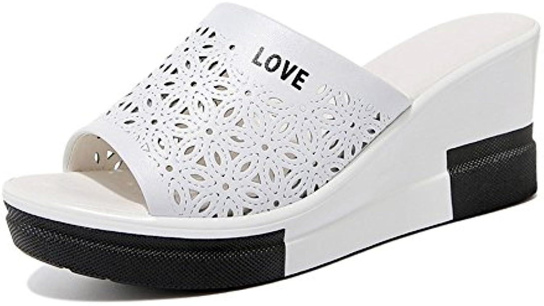 Zapatillas Lady Slippers Round Slopes Slots Tipografía Colorblock Sandalias