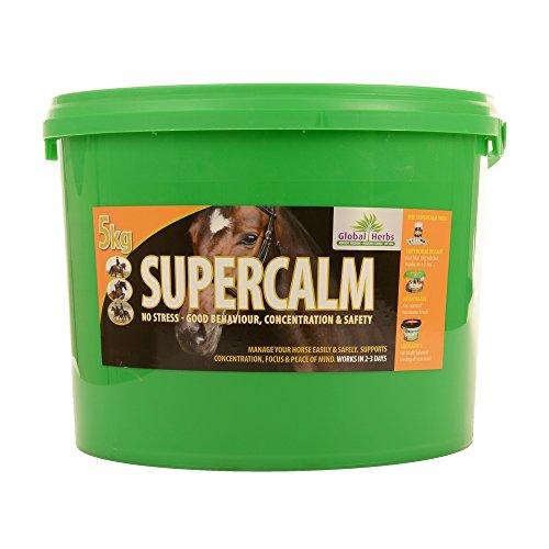 Global Herbs SuperCalm Nahrungsergänzung für Pferde (5 kg) (Kann variieren)