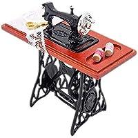 Odoria 1/12 Miniatura Máquina de Coser Vendimia Decorativo para Casa de Muñecas