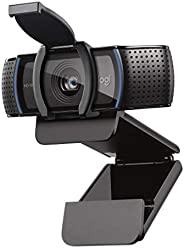 Logitech C920S HD Pro Webcam, Full HD 1080p/30fps Video Calling, Clear Stereo Audio, HD Light Correction, Priv