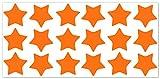 wandfabrik - Fahrradaufkleber 18 Sterne in pastellorange - Wandtattoo geeignet als Dekoration Klebefolie Wandbild Wanddeko Tiere für Wohnzimmer Kinderzimmer Babyzimmer Badezimmer Fliesen Tapete Küche Flur Wohnung und Schlafzimmer für Junge Mädchen Baby Kinder Wandtattoos