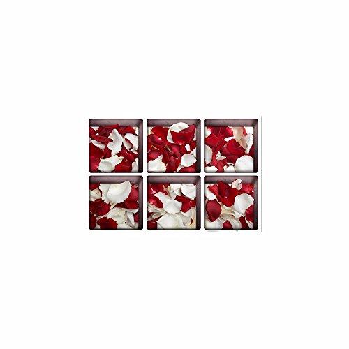 Décorations de Noël pour Halloween (pétale de Rose) 3D Bain/antidérapantes/Creative/Frosted/Les/Home/Bath/Sticker/personnalité/Auto - adhésif (13 * 13cm * 6pcs)