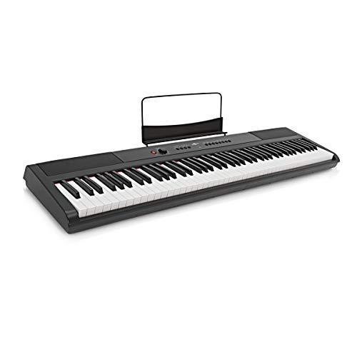 Piano de Escenario SDP-2de Gear4music + Soporte Pedal y Auriculares