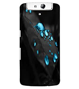 ColourCraft Beautiful Water Drops Design Back Case Cover for OPPO N1